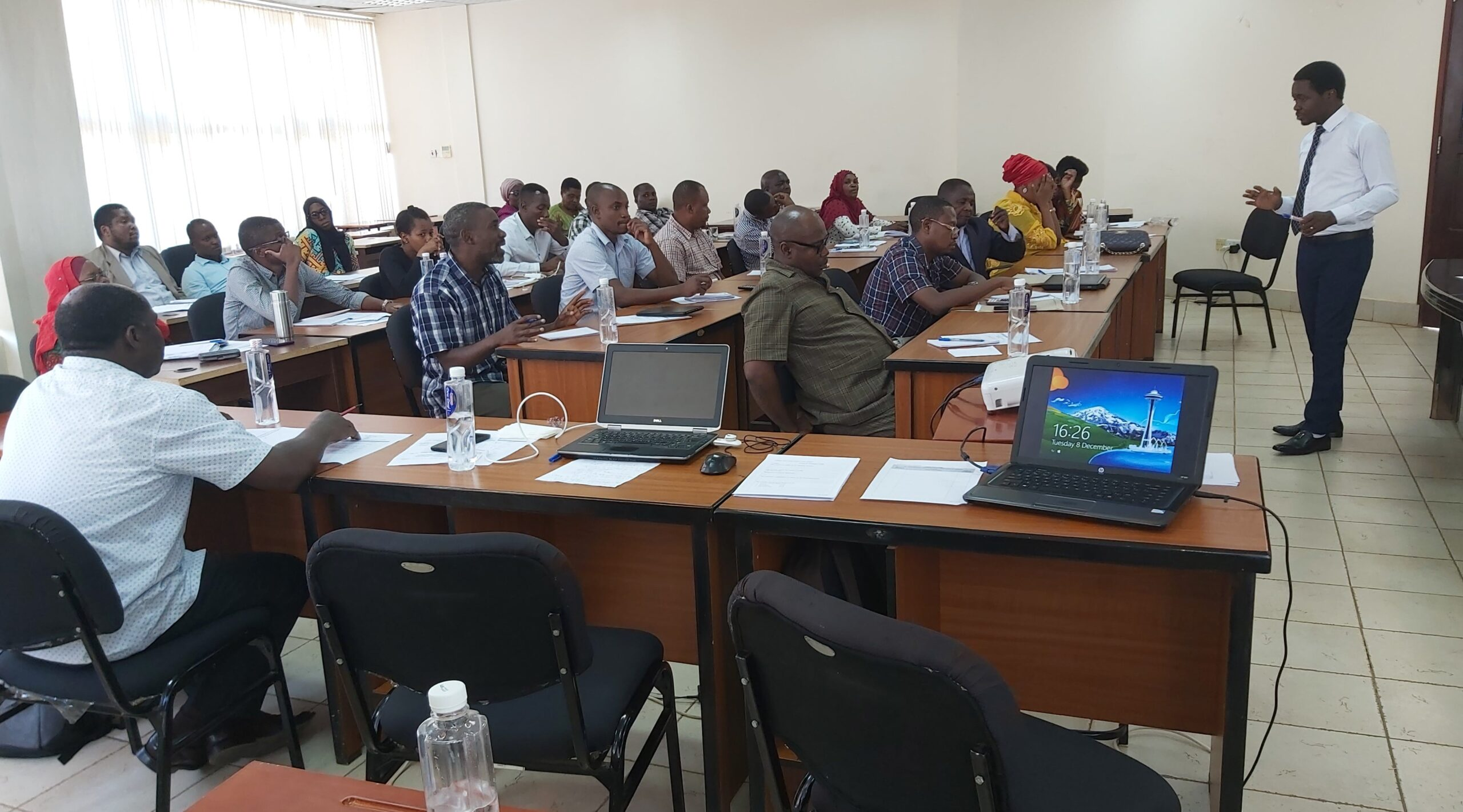 A picture of a capacity building course run by a facilitator from TAPBDS.